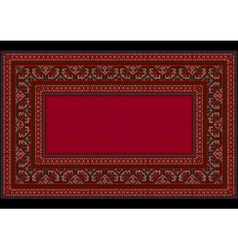 Bright patterned carpet in red shades vector
