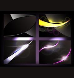 Dark glowing backgrounds vector