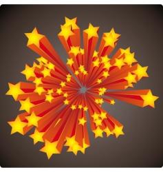 Stars explosion vector