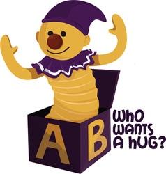 Want A Hug vector image