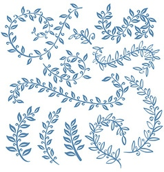The set of hand drawn circular decorative elements vector