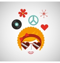Retro party icon design vector