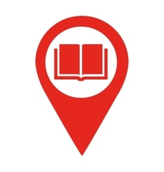 Library location pin isolated icon design vector