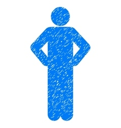 Akimbo Pose Grainy Texture Icon vector image vector image