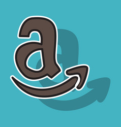 amazon online shop smile store icon concept vector image vector image