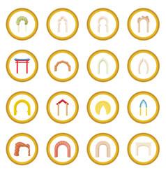 Arch icon circle vector