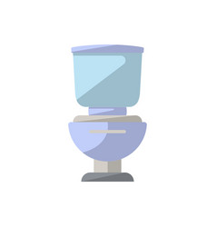ceramics toilet isolated icon in flat style vector image vector image
