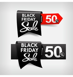 Collection of black friday web tag banner vector