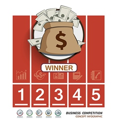 Competition business in racetrack vector