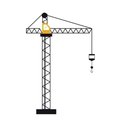 Crane hook construction machine vector