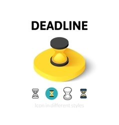 Deadline icon in different style vector image