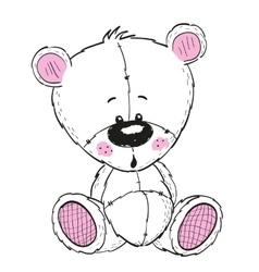 Drawing teddy vector