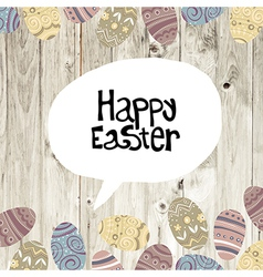 easter card wooden background vector image