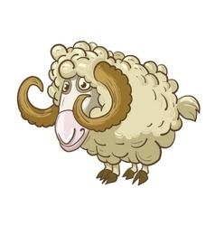 Funny cartoon mutton vector