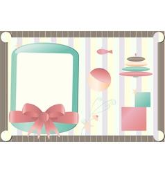 girlie frames vector image