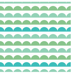 Green blue scallops stripes seamless repeat vector