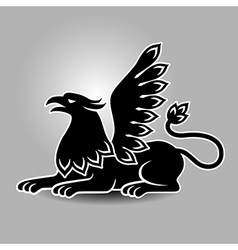 griffin symbol vector image