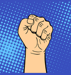 Hand showing fist deaf-mute gesture human arm hold vector
