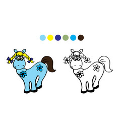 Horsecolor black and white vector