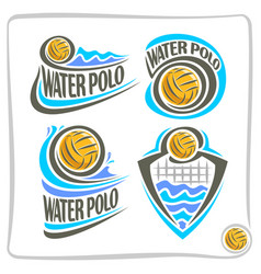 icons for water polo vector image
