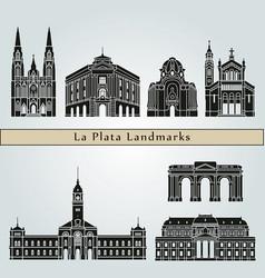 la plata landmarks vector image vector image