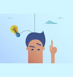 Light bulb falling on business man head new idea vector