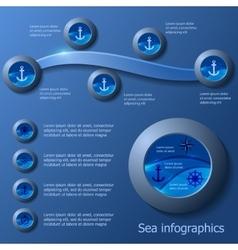 Marine infographics set vector image vector image