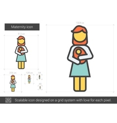 Maternity line icon vector image vector image