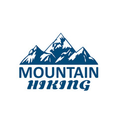 mountain hiking or hike tour sport icon vector image vector image