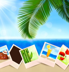 Photos from holidays on a seaside vector