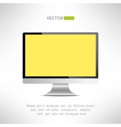 Realictic lcd monitor computer display tv screen vector