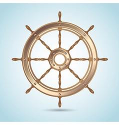 Realistic shiny captain sheep wheel vector