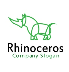 Rhinoceros Design vector image