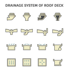 roof deck drainage vector image vector image