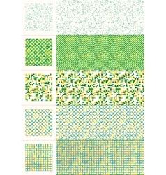 Seamless vintage geometric pattern vector image