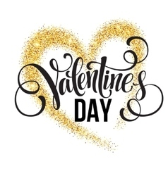 Sparkle glitter Valentines Day heart vector image vector image