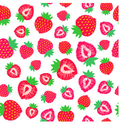 strawberry background painted pattern vector image