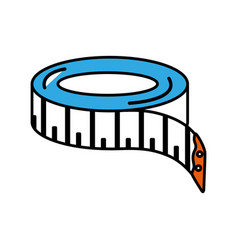Tape sewing measure icon vector