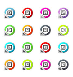 Time icons set vector