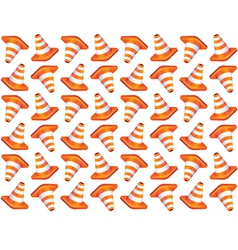 Traffic cones seamless background vector