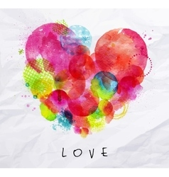 Watercolor poster love vector