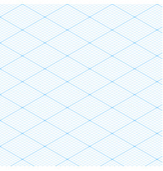 White isometric blueprint grid seamless pattern vector