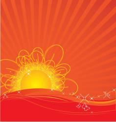 rising sun vector image