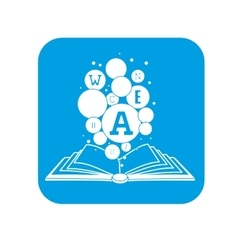 Book reading icon image vector
