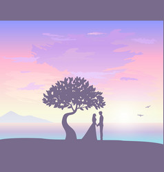 Sunset love vector