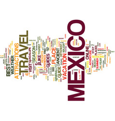 your way to mexico a travel guide text background vector image