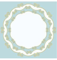 Decorative old-fashioned frame vector