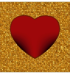 Gold frame in the shape of heart eps 8 vector