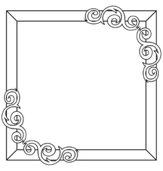 Contour decorative ornate frame vector