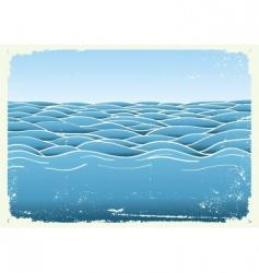 Grunge waves vector